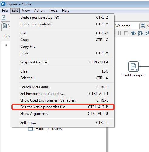 Рис. 2 - Открываем редактор файла со свойствами