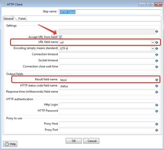 Рис.4 - Настройки шага HTTP client.